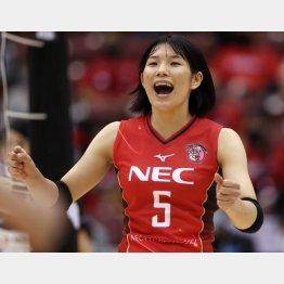 バレーボールの曽我啓菜選手(JVL承認NECW-2020-015)