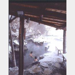 北海道 丸駒温泉旅館「天然露天風呂」/(丸駒温泉旅館提供)