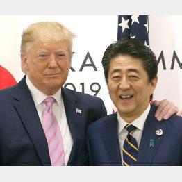 トランプ米大統領と安倍前首相(C)日刊ゲンダイ