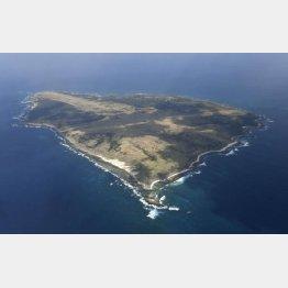 上空から見た馬毛島(C)共同通信社