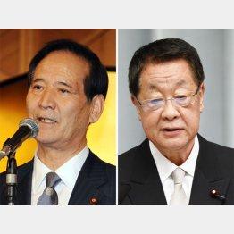 西川元農相(左)と吉川元農相(C)共同通信社