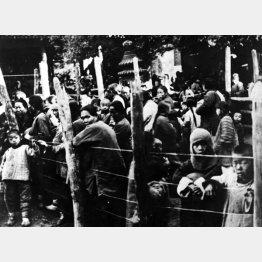 日本軍の北京爆撃によって集まった中国人難民(C)Robert Hunt Library/Mary Evans/共同通信イメージズ
