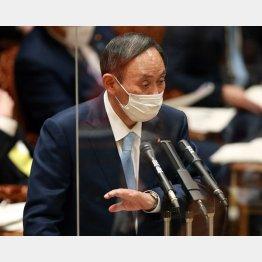国民が生活保護に陥らないようにするのが政治の役割ではないのか(菅義偉首相=27日、参院予算委)/(C)日刊ゲンダイ