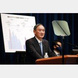 菅首相は延長表明に期限前の解除もにおわせたが…(C)JMPA