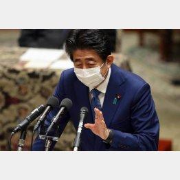 虚偽答弁について発言する安倍晋三前首相(2020年12月25日)/(C)日刊ゲンダイ