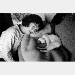 陽子とチロ(1989年撮影)(提供写真)