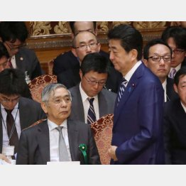 アベノミクスを支え続けた日銀・黒田総裁(C)日刊ゲンダイ