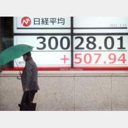 日経平均は30年6カ月ぶりに3万円を超えた(C)日刊ゲンダイ