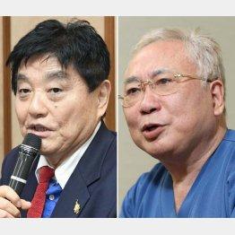 名古屋の河村たかし市長(左=共同)と高須クリニックの高須克弥院長