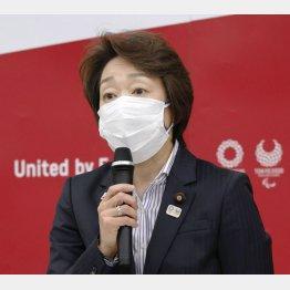 東京五輪・パラリンピック組織委の新会長に選出され、理事会であいさつする橋本聖子氏(代表撮影)