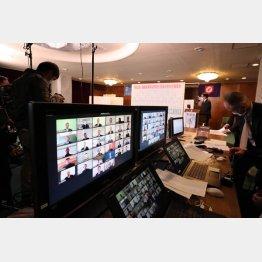 センバツ・開幕1カ月前にリモートで行われたセンバツの組み合わせ抽選会(C)JMPA