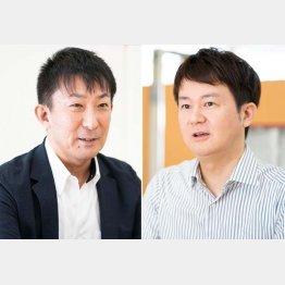 SGMOクライアントリレーション部門の浅島史郎副部門長(左)と同メディカルセンターの玉村和之氏(提供写真)