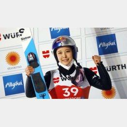 高梨は今大会2個目のメダル獲得(C)ロイター