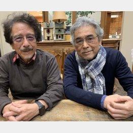 左から筆者、牧村さん(C)日刊ゲンダイ