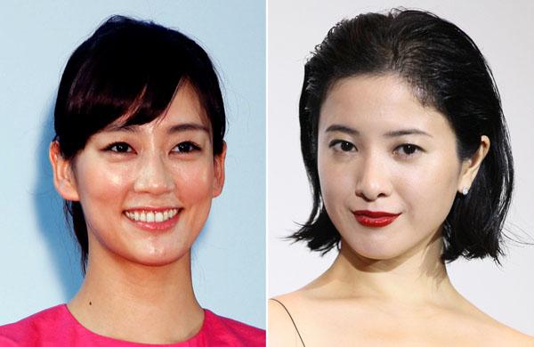 水川あさみ(左)と吉高由里子(C)日刊ゲンダイ