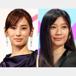 北川景子(左)と篠原涼子(C)日刊ゲンダイ