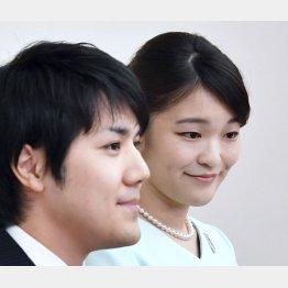 婚約が内定し、記者会見される眞子さまと小室圭さん(C)共同通信社