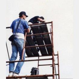 考古学の撮影アシスタントをしていた大学時代(提供写真)