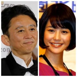 結婚が発表された有吉弘行(左)と夏目三久(C)日刊ゲンダイ