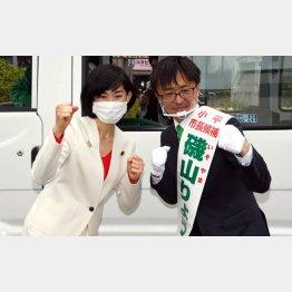 磯山亮候補の応援に丸川珠代五輪担当相もかけつけたが…(C)日刊ゲンダイ