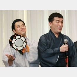 「すゑひろがりず」の南條庄助(左)と三島達矢(C)日刊ゲンダイ