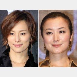 米倉涼子(左)と鈴木京香(C)日刊ゲンダイ