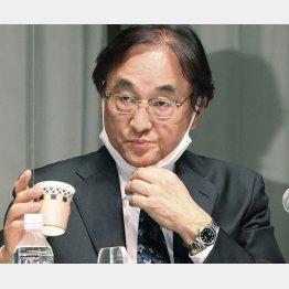 会見でフジ・メディアHDの金光修社長は持論を展開(C)共同通信社