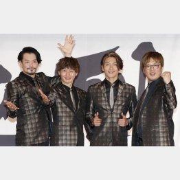 純烈(左から小田井涼平、後上翔太、白川裕二郎、酒井一圭)(C)日刊ゲンダイ