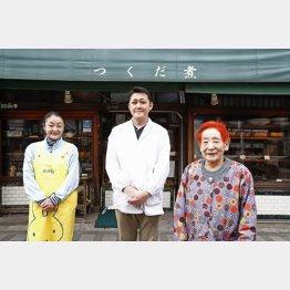 店主の金子修さん(中)と伯母の良子さん(右)と従業員の多田さん(C)日刊ゲンダイ