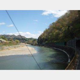 久慈川に沿って走る(C)日刊ゲンダイ