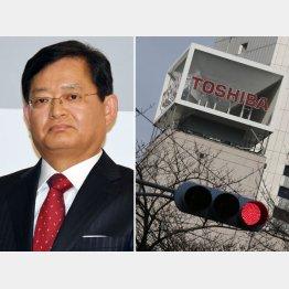 CVC買収提案がやぶへびに(辞任した車谷暢昭社長=左)(C)日刊ゲンダイ