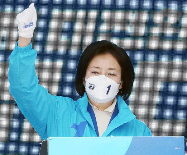 ソウル市長選で敗れた朴映宣・前中小ベンチャー企業相(C)Yonhap News Agency/共同通信イメージズ