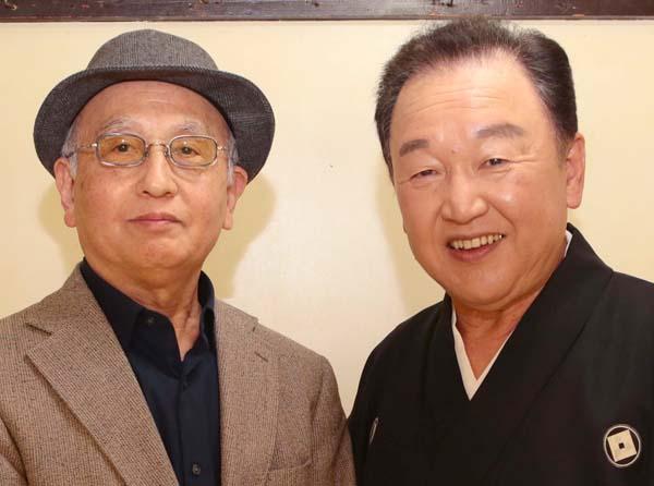 京山幸枝若(右)と吉川潮(C)日刊ゲンダイ