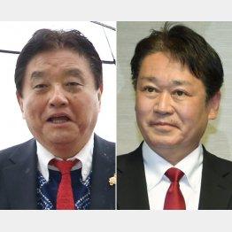 名古屋市長選を戦う河村たかし氏(左)と横井利明氏(C)日刊ゲンダイ
