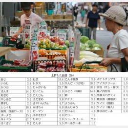 上昇した品目(%)/(C)日刊ゲンダイ