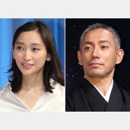 卒園生の杏(左)と市川海老蔵(C)日刊ゲンダイ