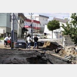 北海道胆振東部地震では北海道のほぼ全域がブラックアウト(C)共同通信社