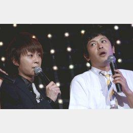「流れ星☆」のちゅうえい(右)とTAKIUE(C)日刊ゲンダイ