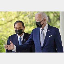 外交オンチの菅首相はむやみやたらにバイデン米政権に隷従…(C)共同通信社