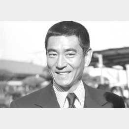 東映東京撮影所で(1973年撮影)/(C)共同通信社