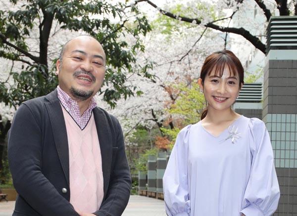 TBSアナウンサーの日比麻音子さんと原田曜平氏(C)日刊ゲンダイ