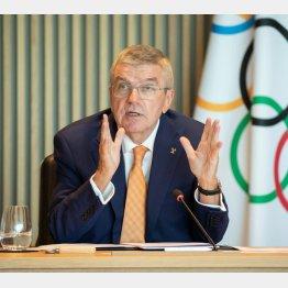 IOCのバッハ会長(C)ロイター