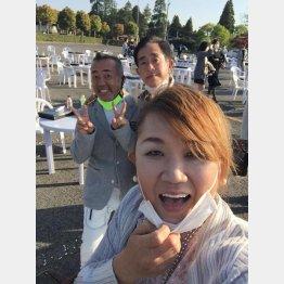 平尾昌晃チャリティーゴルフ大会で(提供写真)