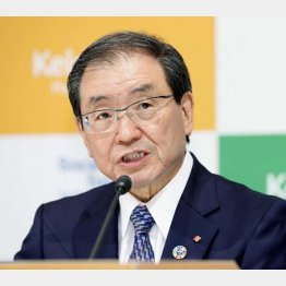 6月1日付で就任する十倉新会長(C)共同通信社