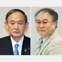 菅首相(左)と高橋洋一嘉悦大学教授(C)日刊ゲンダイ