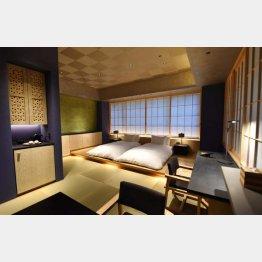 「星のや東京」の客室(C)共同通信社