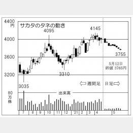 サカタのタネの株価チャート(C)日刊ゲンダイ