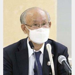 14日、記者会見をする元日弁連会長の宇都宮健児氏(C)共同通信社