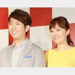 12年に丸岡いずみ(右)と結婚(C)日刊ゲンダイ