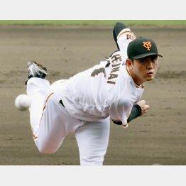 16日の阪神戦で炎上し…(平内)/(C)共同通信社